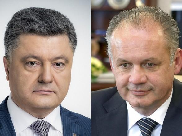 Порошенко обсудил с президентом Словакии подготовку к саммиту НАТО