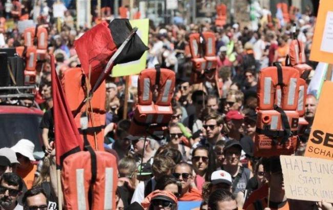 В ФРГ прошли акции в поддержку беженцев
