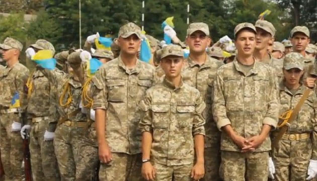 Выпускники Национального университета обороны приняли присягу