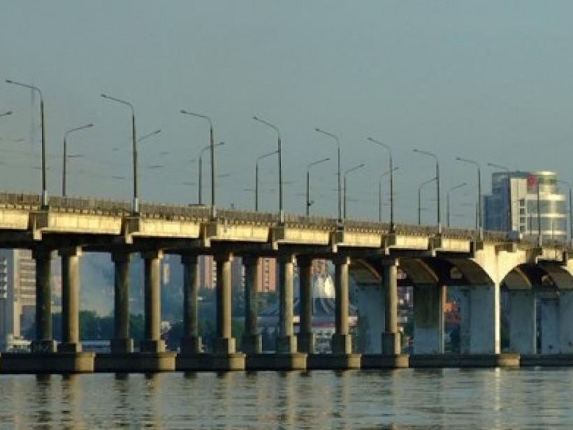 В Днепре горел Новый мост