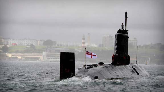 Британская атомная подводная лодка прибыла в Средиземное море