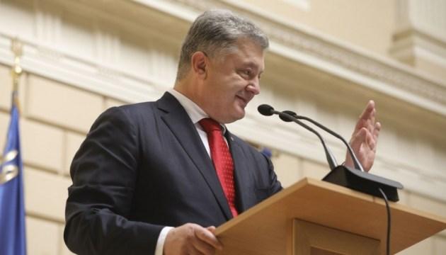 Порошенко уверен, что языковые квоты подтолкнули развитие украинского ТВ и радио