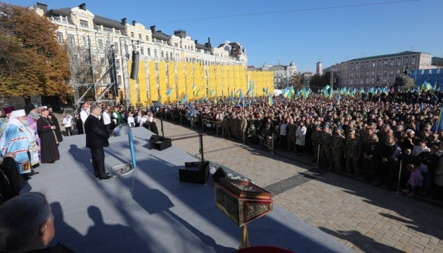 """Порошенко надеется, что на Соборе не будет """"на двух украинцев три гетмана"""""""