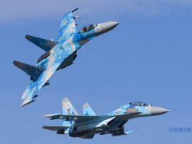 В Винницкой области разбился украинский истребитель Су-27