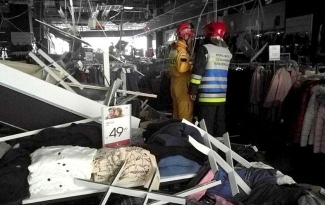 В Польше на посетителей ТРЦ обвалился потолок, есть пострадавшие