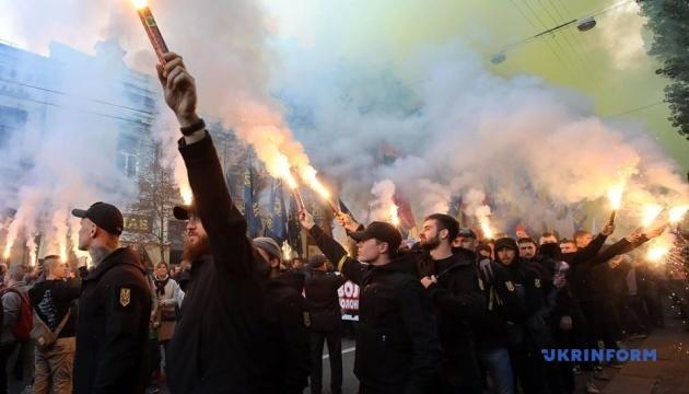 В Киеве установили рекорд самого массового исполнения гимна ОУН