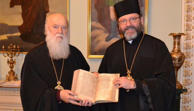 Блаженнейший Святослав встретился с Патриархом Филаретом