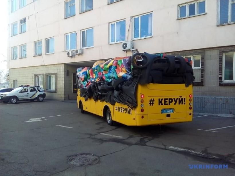 """Полиция выпустила на дороги Украины """"неуправляемый автобус-призрак"""""""