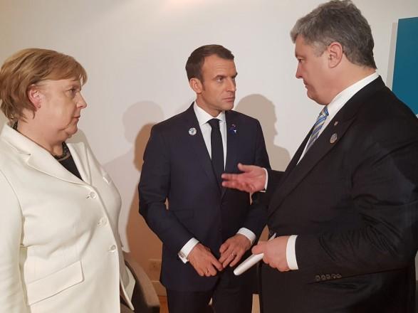 """Макрон и Меркель осудили """"выборы"""" в ОРДЛО - Порошенко"""