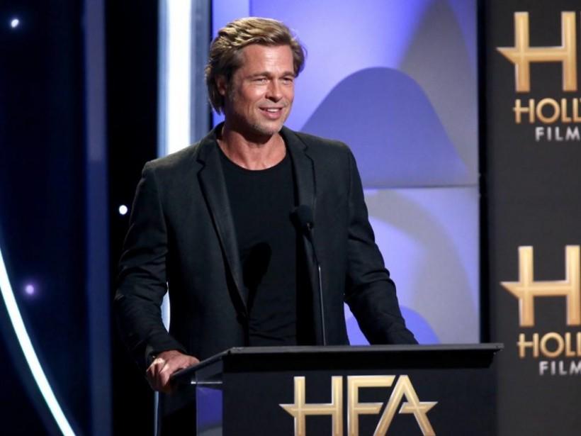 Весь в черном: Брэд Питт впервые за долгое время после развода с Джоли появился на публике (ВИДЕО)