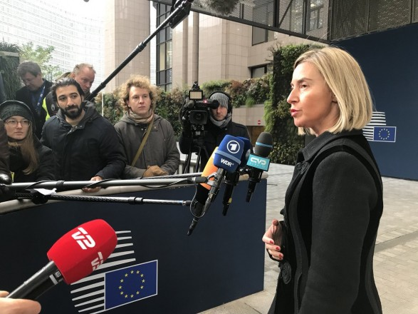 Могерини поговорила с Климкиным перед заседанием Совета ЕС