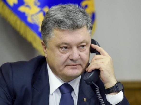 Порошенко поговорил с премьером Молдовы о безопасности