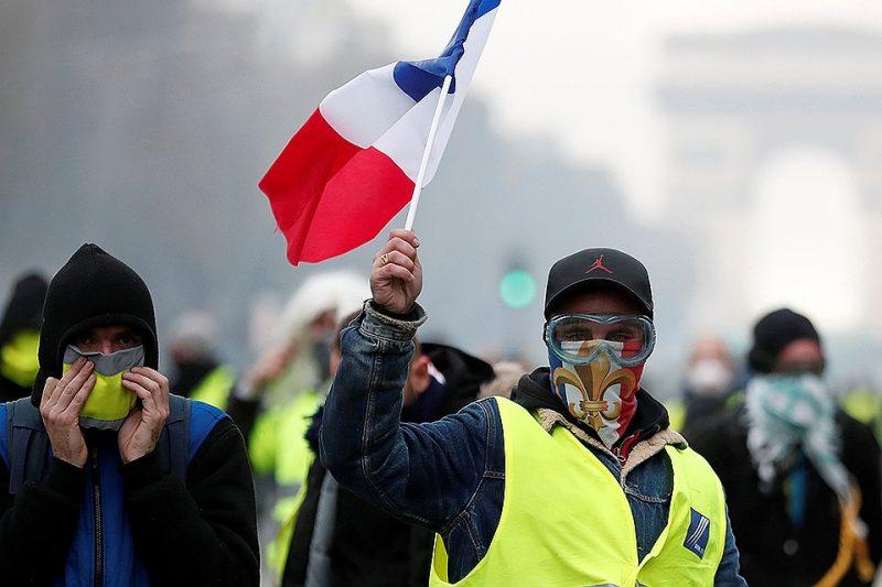 Протесты во Франции: