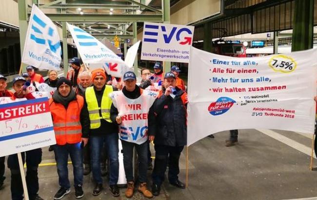 В Германии началась масштабная забастовка железнодорожников