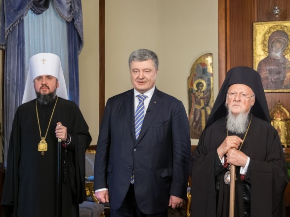 Порошенко, Епифаний и Варфоломей записали совместное рождественское поздравление для украинцев