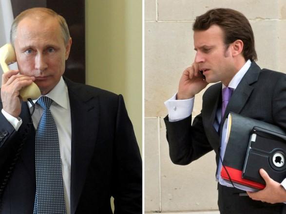 Путин и Макрон обсудили Украины
