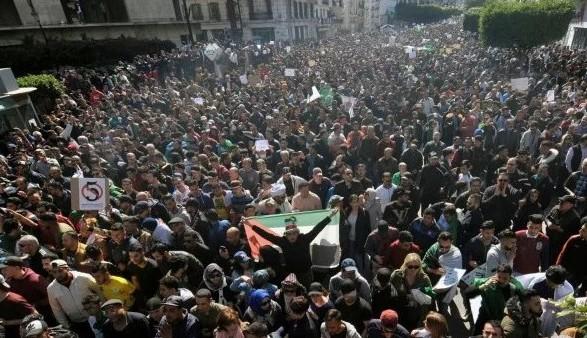 Несколько десятков тысяч человек вновь вышли на антипрезидентские протесты в Алжире