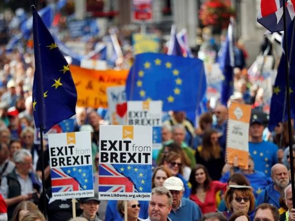 Полиция задержала в Лондоне пятерых участников акций протеста сторонников Brexit