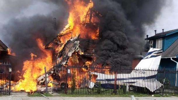 В Чили самолет упал на два дома, есть погибшие