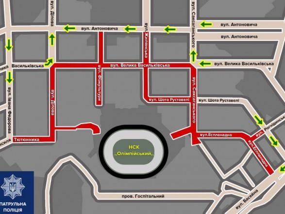 """Дебаты на """"Олимпийском"""": сегодня в столице ограничат движение транспорта"""