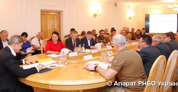 СНБО провела совещание по финансированию органов сектора безопасности и обороны Украины на 2020 год