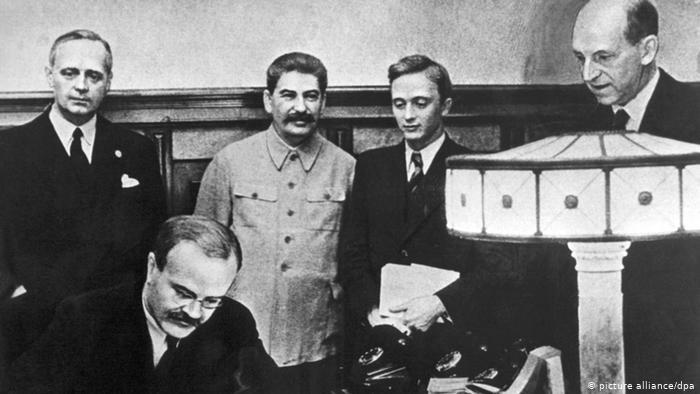 Заключение пакта Молотова-Риббентропа в Москве