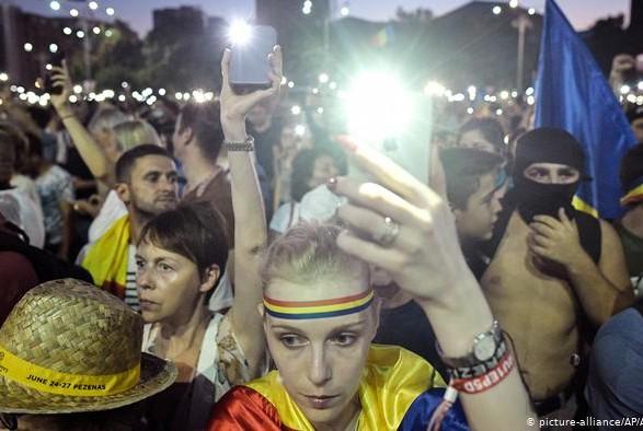 В столице Румынии прошли массовые протесты