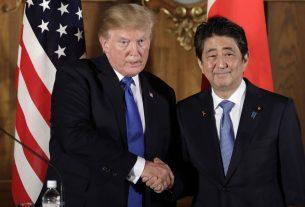 Трамп и Синдзо Абэ