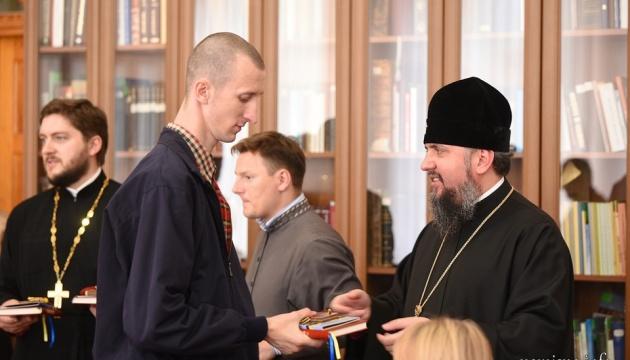 Епифаний встретился с Сущенко, Балухом и другими бывшими узниками Кремля