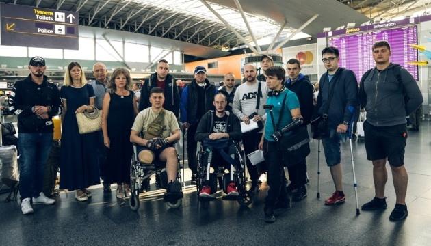 Из Латвии после реабилитации вернулись 14 украинских воинов