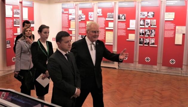 Зеленский посетил Музей оккупации Латвии