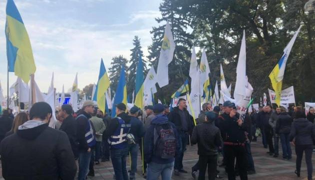 Под Радой митингуют против продажи земли иностранцам