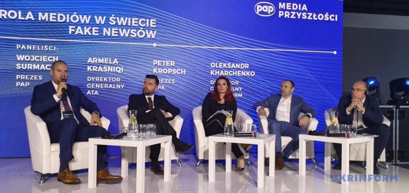 Медиафорум в Варшаве: гендиректор Укринформа назвал три этапа продвижения фейков в соцсетях