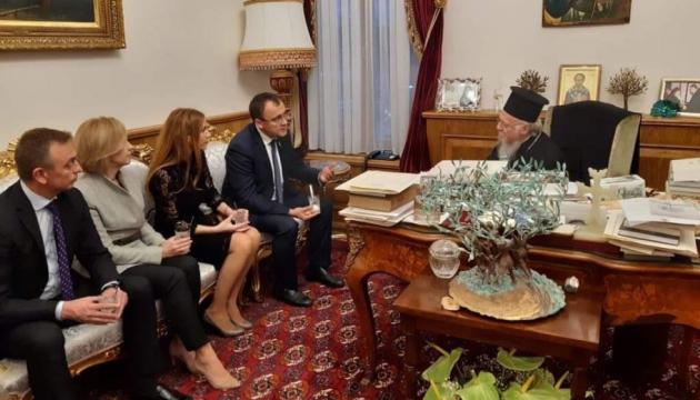 Заместитель главы МИД поблагодарил Вселенского Патриарха за помощь в признании ПЦУ