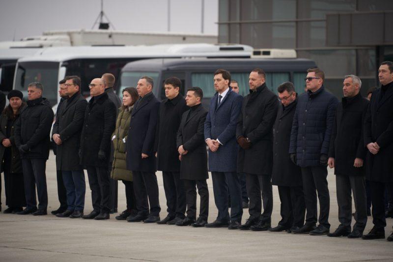 Церемония прощания с погибшими в Иране украинцами