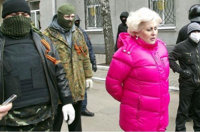 Неля Штепа с сепаратистами
