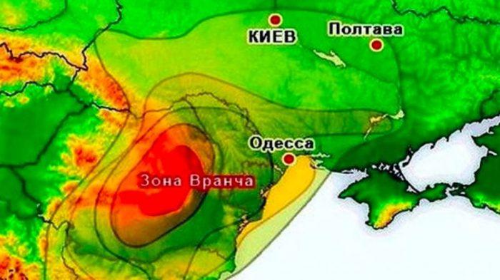 Землетрясение в Румынии.