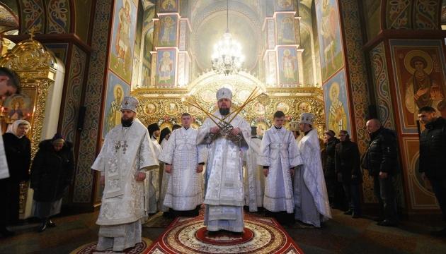 Епифаний в Навечерие Рождества совершил богослужение в Михайловском соборе