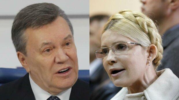 Виктор Янукович и Юлия Тимошенко.