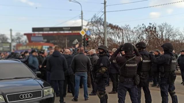 Столкновения на рынке Барабашово в Харькове
