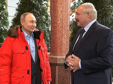Встреча Путина и Лукашенко в Сочи.