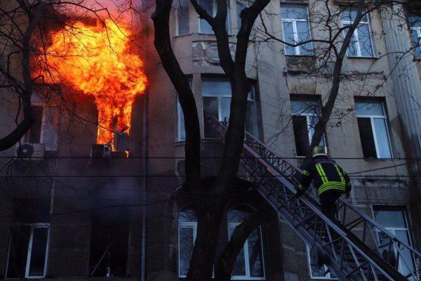 Во время пожара в Одессе погибли три человека.