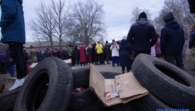 Полиция задержала 24 человека из-за протестов в Новых Санжарах