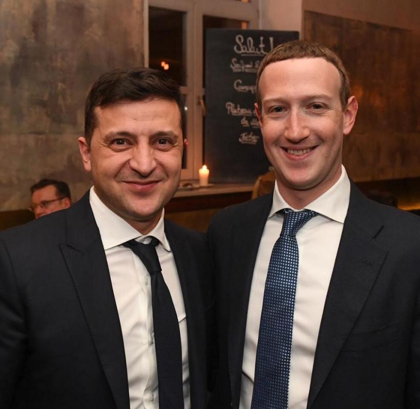 Зеленский встретился с Цукербергом
