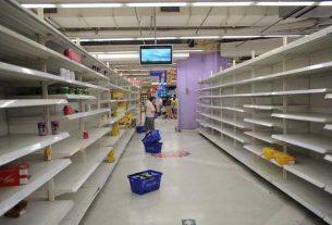 пустые прилавки в супермаркетах