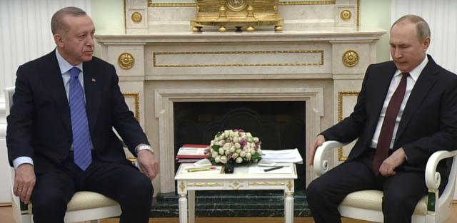 Реджеп Эрдоган и Владимир Путин.