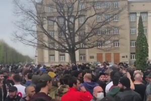 Акции протестов во Владикавказе.