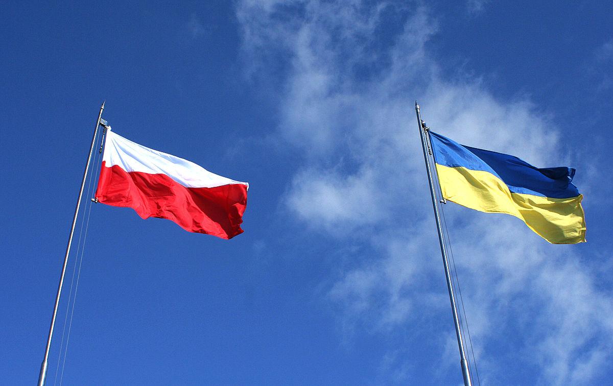 Флаг Польши и Украины