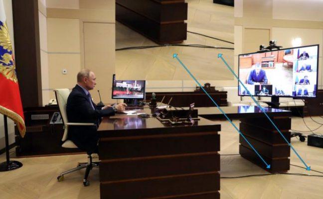 Владимир Путин в подземном бункере.