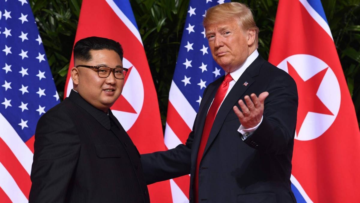 Ким Чен Ын и Трамп